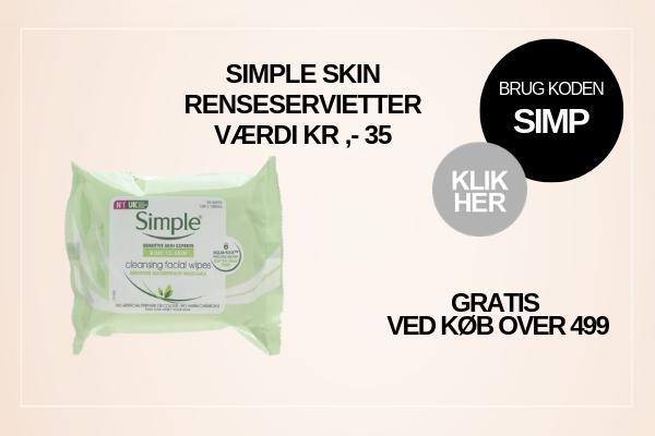 Gratis gave Simple Skincare renseservietter