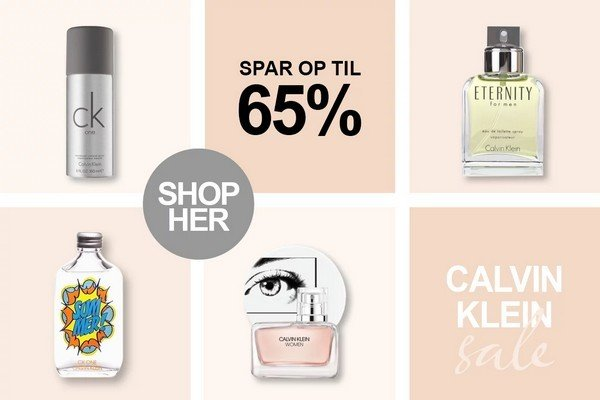 billigparfume.dk Calvin klein parfume tilbud