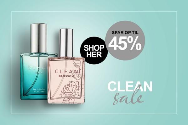 Clean Parfume og dufte tilbud hos BilligParfume.dk