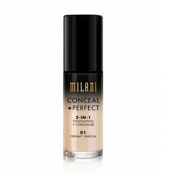 Image of   Milani - Foundation 2in1 - 01 Creamy 01 Vanilla - Conceal Perfect Foundation and Concealer