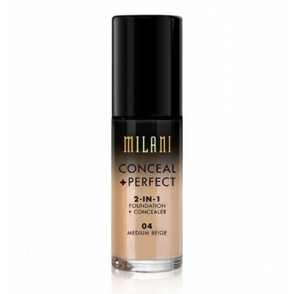 Billede af Milani - Foundation 2in1 - 04 Medium Beige - Conceal Perfect Foundation and Concealer
