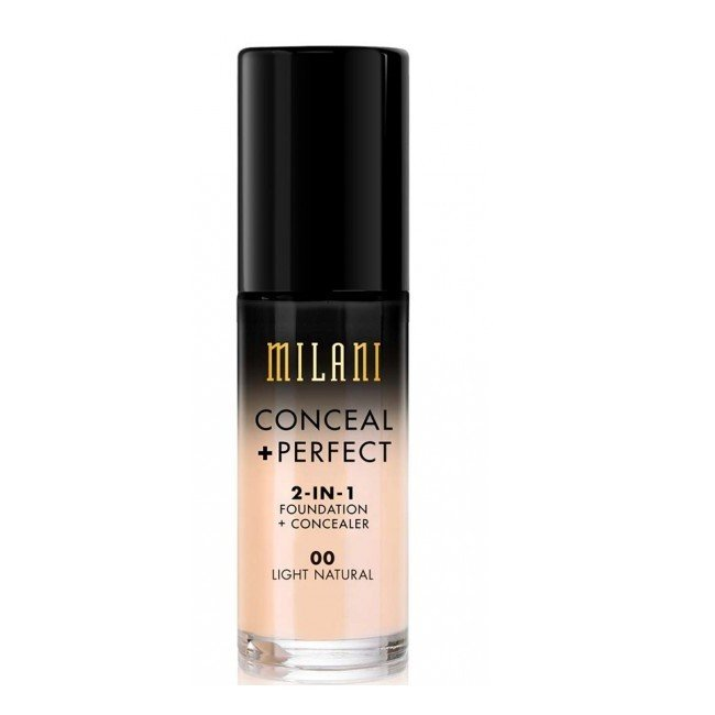Image of   Milani Cosmetics - Foundation 2in1 - 00 Light Natural - Conceal Perfect Foundation and Concealer