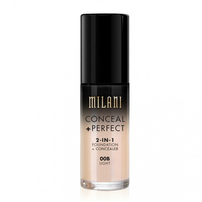 Image of   Milani Cosmetics - Foundation 2in1 - 00 Light - Conceal Perfect Foundation and Concealer