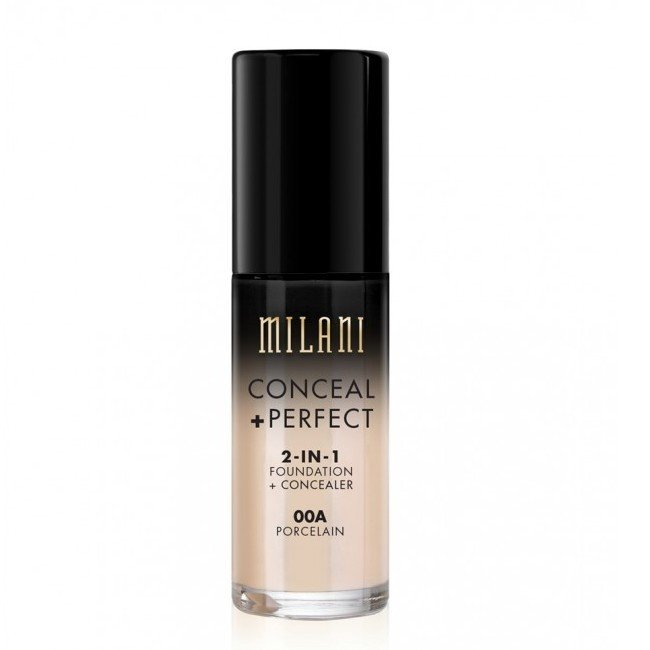 Billede af Milani Cosmetics - Foundation 2in1 - 00A Porcelain - Conceal Perfect Foundation and Concealer
