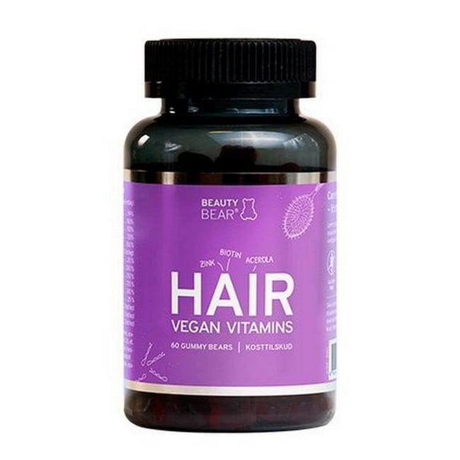 Beauty Bear Vitamins - HAIR Vitamins Gummies - Vingummier - 1 måned