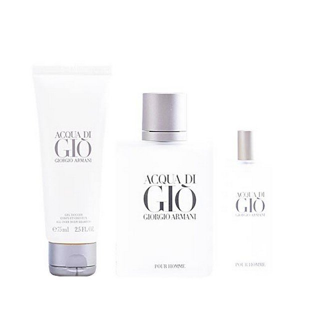 Image of   Giorgio Armani - Acqua Di Gio Pour Homme - 100ml Edt - 15ml Edt - Shower Gel