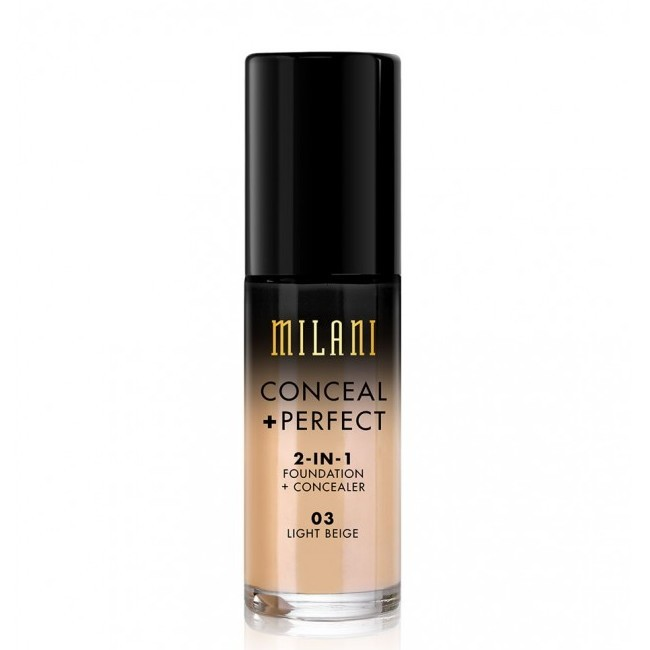 Image of   Milani Cosmetics - Foundation 2in1 - Conceal Perfect Foundation and Concealer - 03 Light Beige