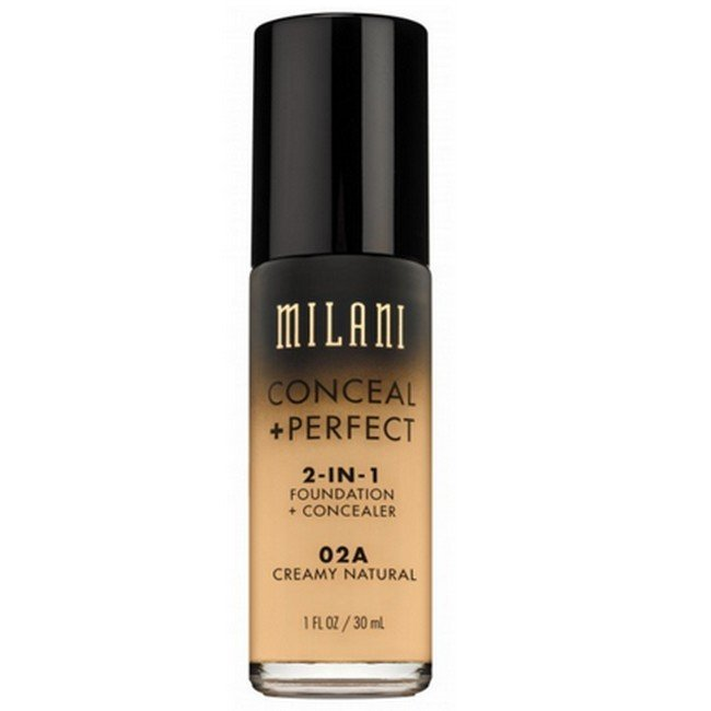 Image of   Milani Cosmetics - Foundation 2in1 - 02A Creamy Natural - Conceal Perfect Foundation and Concealer