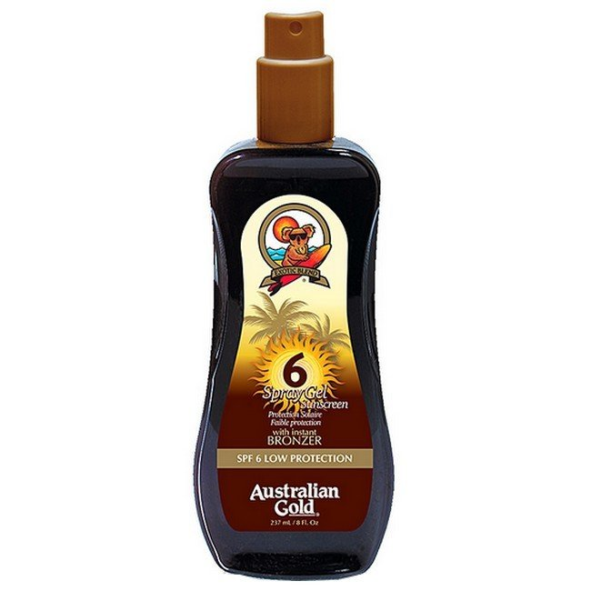 Image of Australian Gold - Spray Gel Sunscreen Instant Bronzer SPF 6 - 237 ml
