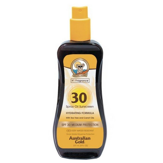 Image of Australian Gold - Spray Oil Sunscreen - Carrot & Tea Tree Oils - SPF 30 - 237 ml