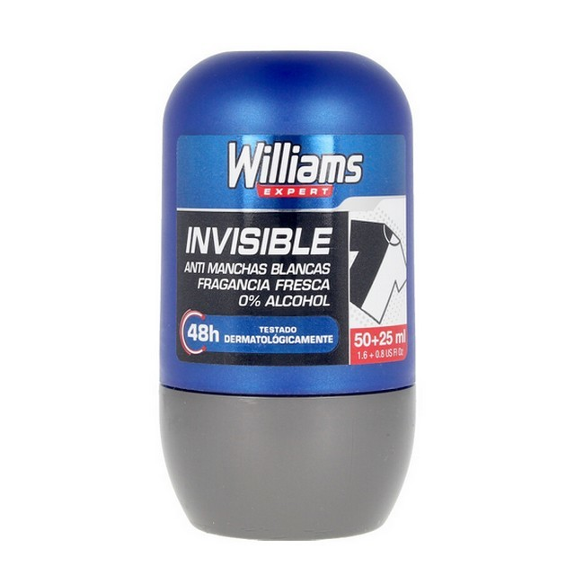 Williams - Expert Invisible Blue 48H Deo Roll On - 75 ml thumbnail