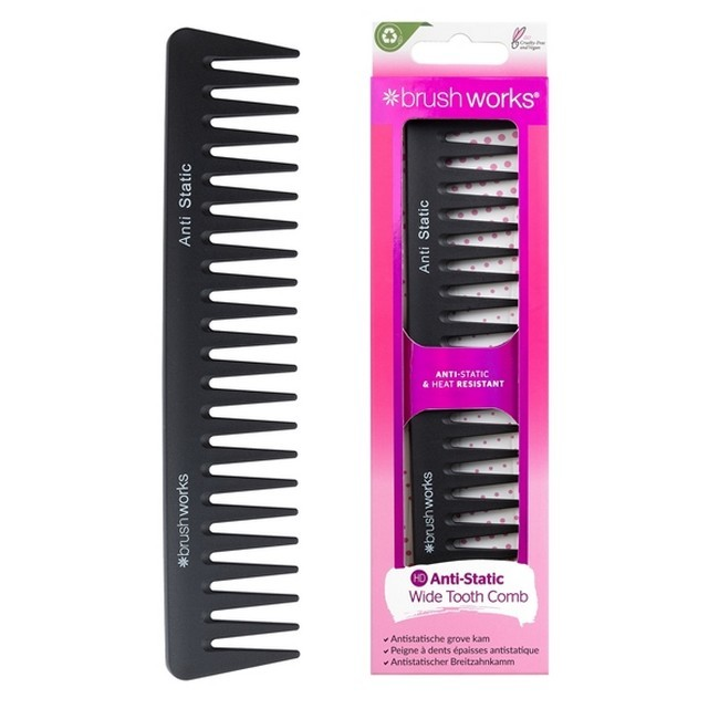 BrushWorks - Anti Static Wide Tooth Comb